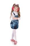 Urocza mody mała dziewczynka fotografia stock