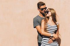 Urocza para na słonecznym dniu Obrazy Stock