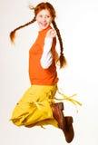 urocza rudą dziewczynę Fotografia Stock
