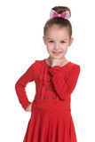 Urocza szczęśliwa mała dziewczynka Zdjęcia Royalty Free
