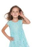 Urocza zadumana mała dziewczynka Obrazy Royalty Free