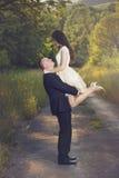 Urocza zaręczynowa para Zdjęcia Stock