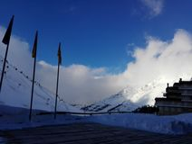 Urocza zima, Astun Zdjęcie Royalty Free
