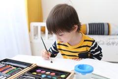 Urocze chłopiec farby Zdjęcia Stock