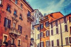 Urocze fasady w Rzym Zdjęcia Royalty Free