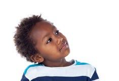 Uroczego afroamerican dziecka przyglądający up Zdjęcia Stock