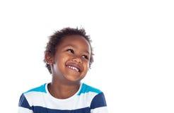 Uroczego afroamerican dziecka przyglądający up Fotografia Royalty Free