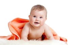 uroczego dziecka kolorowy szczęśliwy ręcznik Obraz Stock