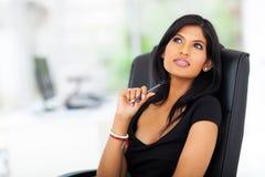 Rozważny młody bizneswoman obraz stock