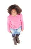 Uroczej Afroamerican dziewczyny odgórny widok Zdjęcie Royalty Free