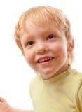 uroczej chłopiec szczęśliwy portret Obrazy Royalty Free