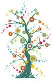 uroczyście drzewo ilustracja wektor