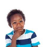 Uroczy afroamerican dziecka główkowanie Zdjęcia Royalty Free
