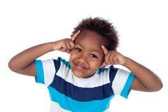 Uroczy afroamerican dziecka główkowanie Obrazy Stock