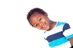 Uroczy afroamerican dziecko patrzeje kamerę Zdjęcia Royalty Free