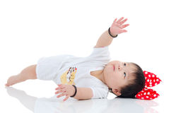 Uroczy azjatykci dziecko Obrazy Royalty Free