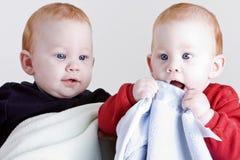 uroczy bliźniacy Fotografia Royalty Free