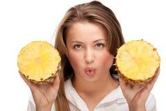 uroczy blondynka ananas Fotografia Royalty Free
