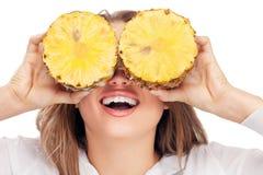 uroczy blondynka ananas Obrazy Stock