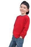 uroczy chłopiec fotografii potomstwa Fotografia Royalty Free