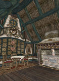uroczy chałupy wnętrze Obrazy Royalty Free