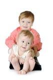 Uroczy dwa dziecka - siostra i brat obrazy stock