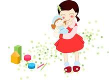 uroczy dzieciak zabawka Fotografia Royalty Free