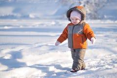 uroczy dziecka lodu jezior parka spacer Zdjęcia Stock