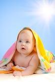 uroczy dziecka nieba słońce Zdjęcie Stock