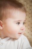 uroczy dziecka niebieskich oczu portret Fotografia Royalty Free