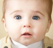 uroczy dziecka niebieskich oczu portret Obraz Royalty Free