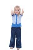uroczy dziecka ok przedstawienie znak Fotografia Stock