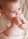 Uroczy dziecka zbliżenia portret Obraz Royalty Free