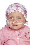 Uroczy dziecko bije chorobę Obraz Royalty Free