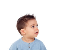 Uroczy dziecko dziewięć miesięcy Obrazy Royalty Free