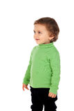 Uroczy dziecko z zieloną koszula Obrazy Stock