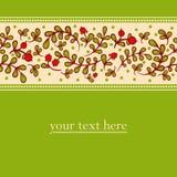 Uroczy jesieni tło z cranberries Obraz Royalty Free