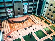 Uroczy kampus, Niezależny uniwersytet, Bangladesz zdjęcie stock