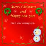 Uroczy kartka bożonarodzeniowa wektoru wzór 1 Zdjęcie Stock