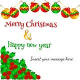 Uroczy kartka bożonarodzeniowa wektoru wzór 3 Obraz Stock