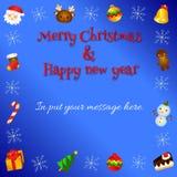 Uroczy kartka bożonarodzeniowa wektoru wzór 2 Zdjęcia Stock