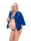 Uroczy kobieta w ciąży zdjęcia stock