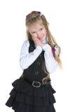 Uroczy mała dziewczynka stojaki obrazy royalty free