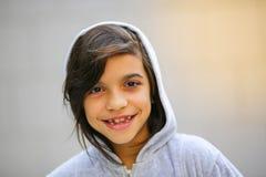 Uroczy nastoletni dziewczyna portret w hoodie Obraz Stock