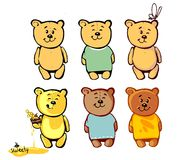 Uroczy niedźwiedź dla twój kreskówki 2 Zdjęcia Royalty Free