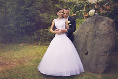 uroczy para ślub Fotografia Stock