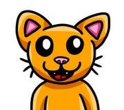 Uroczy Pomarańczowy kot jest w ten sposób Szczęśliwy ilustracja wektor