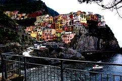 Uroczy Riomaggiore, Cinque Terre Zdjęcia Royalty Free