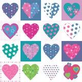 Uroczy serce kolekci wzór Zdjęcie Royalty Free