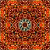 Uroczy tablecloth lub piękny szalik z kwiatem - mandala w etnicznym stylu royalty ilustracja
